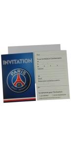 Lot de 6 cartes d'invitation PSG avec enveloppes