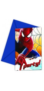 Lot de 6 cartes invitation Amazing spiderman 2