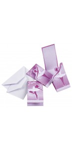 Lot de 6 cartes invitation ballerine avec enveloppe