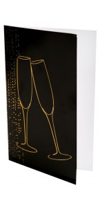 Lot de 6 cartes noires Champagne