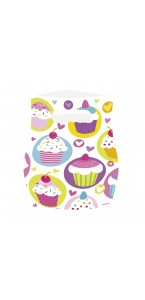 Lot de 6 cartes sachets Cupcake