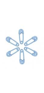 Lot de 6 Epingles à nourrice bleus 6 cm