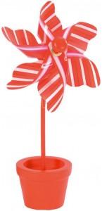 Lot de 6 marque-places Moulin à vent orange 7 x 15 cm