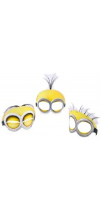 Lot de 6 masques Minions en carton