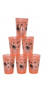 Lot de 6 verres  Halloween 11 cm