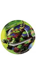 Lot de 8 assiettes Tortue ninja D 23 cm