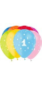 Lot de 8 ballons de baudruche en latex Chiffre 1 D 30 cm