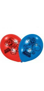 Lot de 8 ballons  Super Mario en latex 23 cm