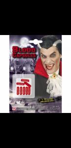 Lot de 8 capsules de faux  sang à mordre halloween