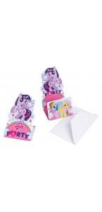 Lot de 8 cartes invitation Mon petit poney avec enveloppe