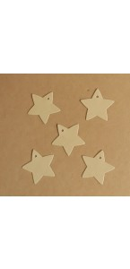 Lot de 8 Etiquettes Voie Lactée Kraft/doré 7,3 cm
