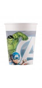 Lot de 8 gobelets Avengers en plastique  20 cl