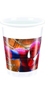 Lot de 8 gobelets  jetables amazing spiderman 2