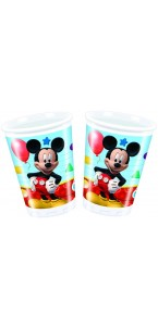 Lot de 8 gobelets jetables en carton Mickey 20 cl