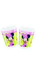 Lot de 8 gobelets jetables en plastique Minnie Bow-tique