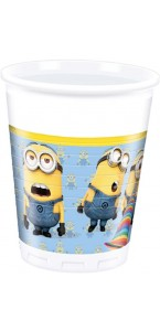 Lot de 8 gobelets jetables Lovely Minions en plastique 20 cl