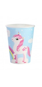 Lot de 8 gobelets Licorne 250 ml