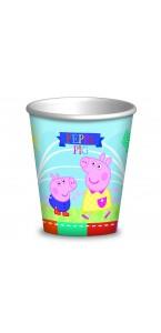 Lot de 8 gobelets Peppa pig 20 cl