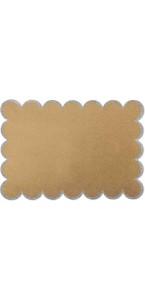 Lot de 8 sets de table Kraft bord argent pailleté 28 x 40 cm