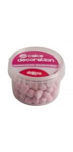 Lot de 90 gr de petites Meringues roses déco gâteau en sucre