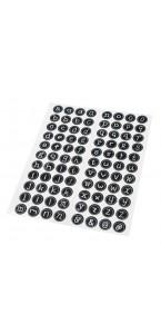 Lot de 92 Lettres adhésives stickers  D 2 cm