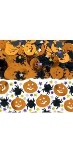Lot de confettis de table Citrouille, Araignée, Etoile Halloween 14 gr
