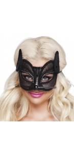 Loup Chat Noir luxe en dentelle