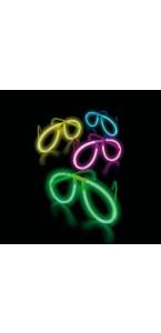 Lunettes fluo mix-couleurs 20 cmx 0,5 cm