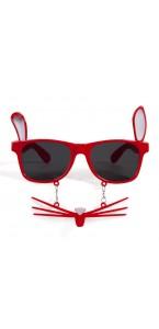 Lunettes Lapin avec moustaches rouges