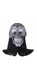 Masque avec capuche crâne Halloween
