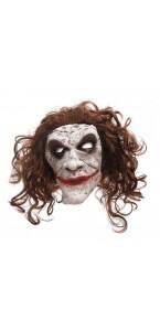 Masque Bouffon avec cheveux Halloween