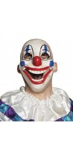 Masque plastique clown avec bouche amovible Halloween PVC