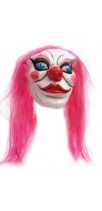 Masque clown avec cheveux Halloween