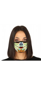 Masque de protection tissu Day of the dead Halloween