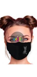 Masque de protection tissu nez de chat
