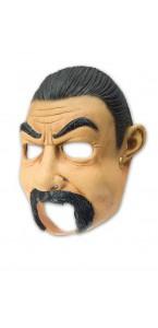 Masque latex homme avec moustache Halloween