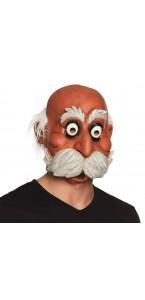 Masque latex homme avec barbe et moustache Halloween