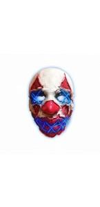 Masque latex néon clown Halloween