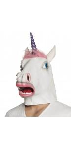 Masque Licorne Pinkie avec cheveux en latex