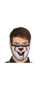 Masque de protection tissu clown Ca Halloween