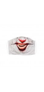 Masque de protection tissu clown Halloween