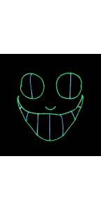 Masque La Purge Chat néon Halloween