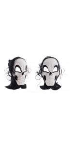 Masque squelette avec cheveux Halloween
