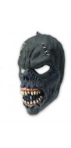 Masque zombie noir Halloween