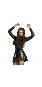 Mini jupe noire shiny taille M/L