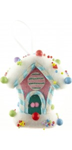 Maison Gourmandise multicolore moyenne taille