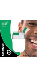 Maquillage 2 bandes vert/blanc