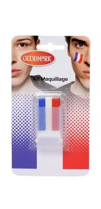 Maquillage 3 bandes tricolore supporter