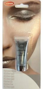 Maquillage gel pailleté argent