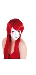 Masque Blanc femme larme sang